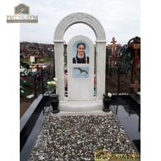 Памятник из белого мрамора №1 — ritualum.ru