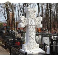 Памятник из белого мрамора № 4  — ritualum.ru