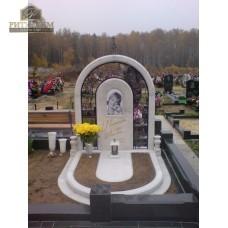 Памятник из белого мрамора № 10 — ritualum.ru